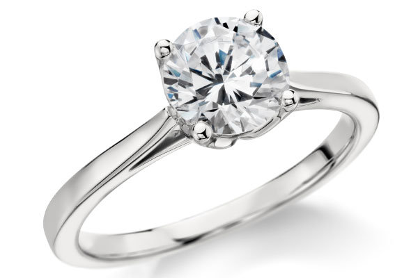 blue nile monique lhuillier cathedral solitaire engagement ring