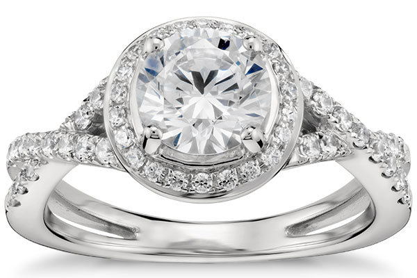 blue nile monique lhuillier twist halo engagement ring