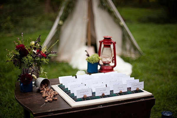 camp themed place cards