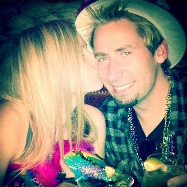 avril lavigne and husband chad kroeger twitter picture