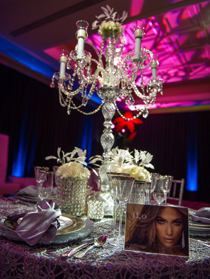 jennifer lopez wedding table decor Fergie Louboutin shoes are always a