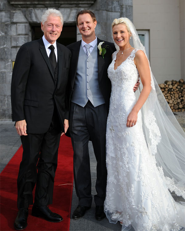 bill clinton at wedding