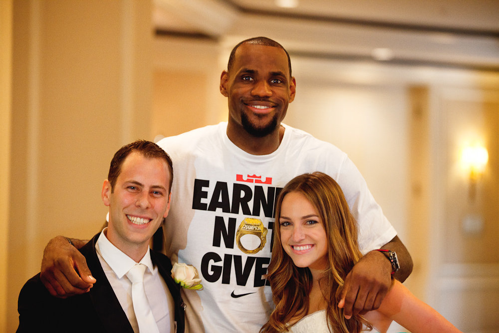 lebron james wedding crasher