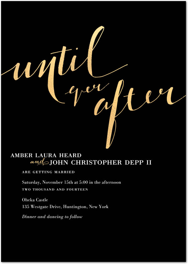 amber heard johnny depp wedding invitation style