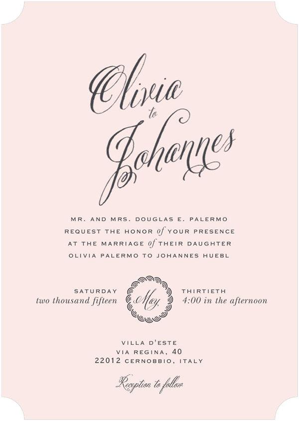 celebrity wedding style predictions: invitations | bridalguide, Wedding invitations