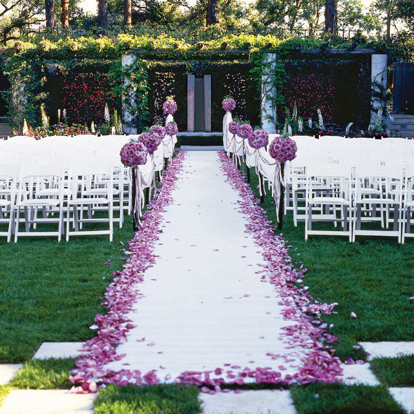 colin cowie ceremony aisle decor