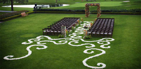 swirls wedding ceremony aisle decor