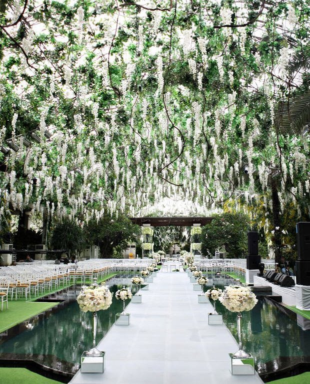 preston bailey wedding ceremony aisle decor
