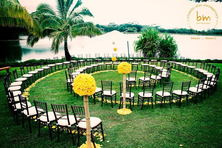 spiral wedding ceremony aisle