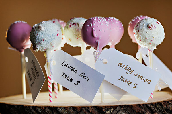 Cake pop escort cards 2