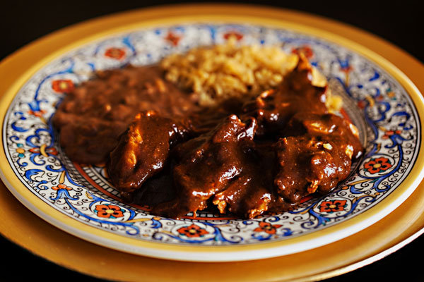 chicken in chocolate mole sauce
