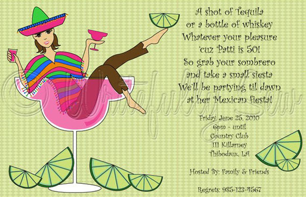 Throw a Cinco de MayoThemed Bachelorette Fiesta – Mexican Themed Party Invitations