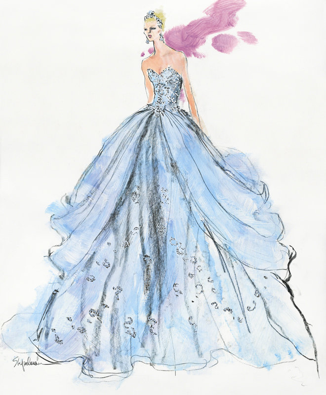 cinderella diamond collection sketch