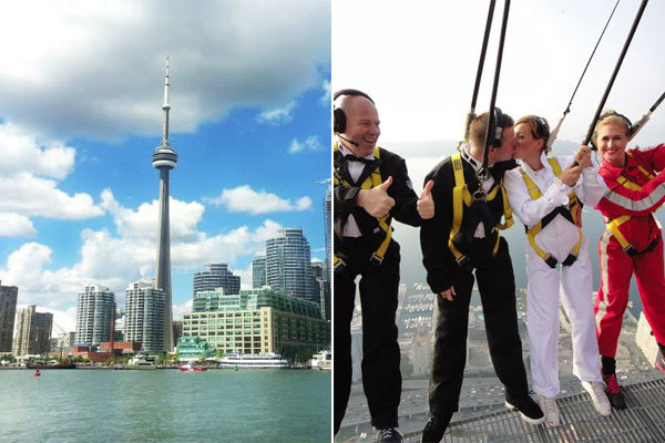 cn tower edgewalk wedding