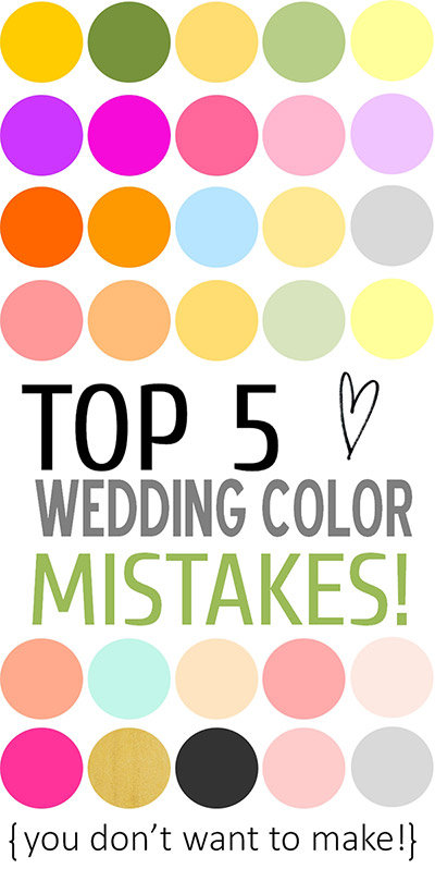 Top 5 wedding color mistakes to avoid bridalguide when deciding on your color palette i urge you to seriously consider the reception space for instance if youve chosen a reception area with burgundy and junglespirit Gallery
