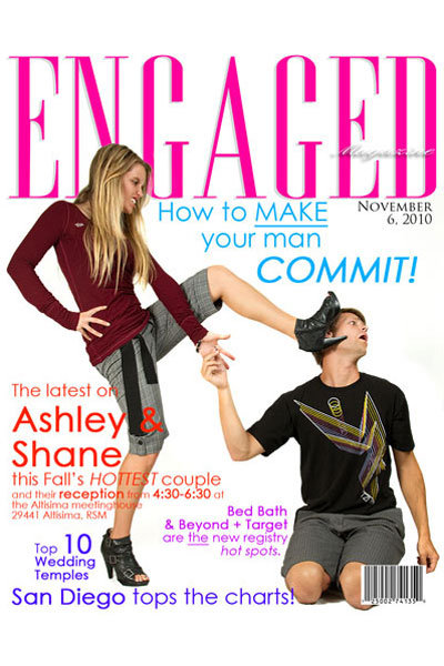 tabloid magazine engagement annoucement