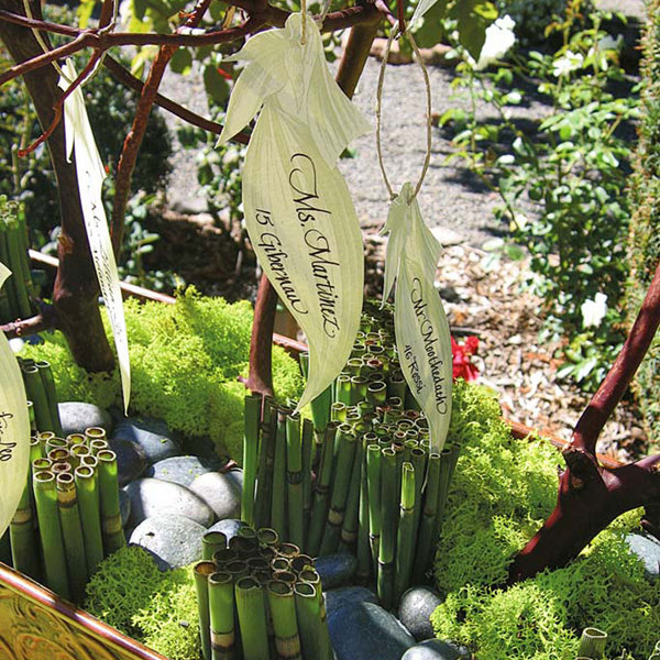 bamboo leaves escort cards