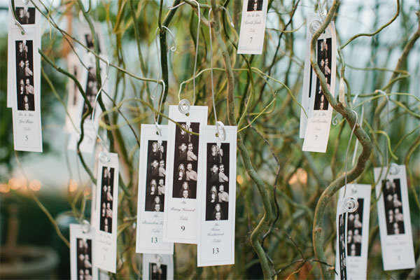 photo strip escort cards