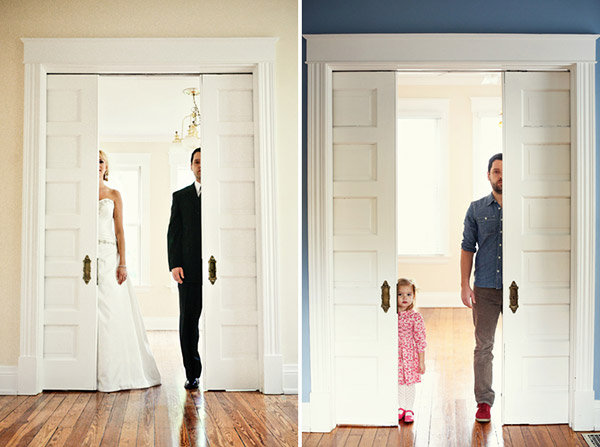 dad recreates wedding photos with his daughter