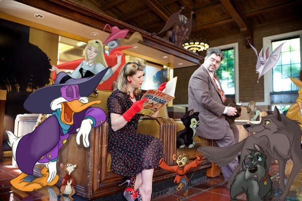 toontown disney themed engagement photos