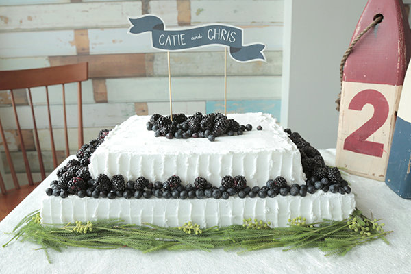 diy berry wedding sheet cake