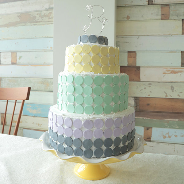 diy candy wafer wedding cake