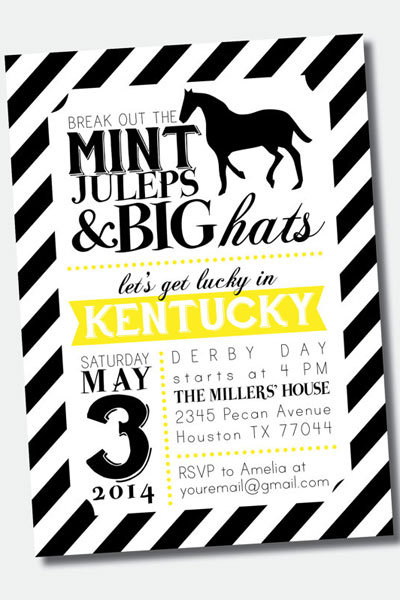 Throw a Down and Derby Bachelorette Party – Derby Party Invitations