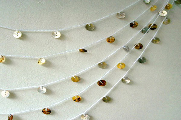 diy button garland