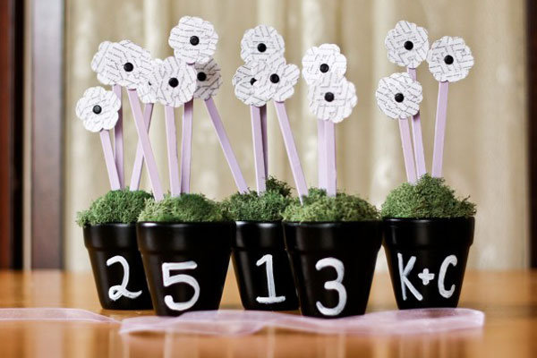 diy chalkboard table numbers