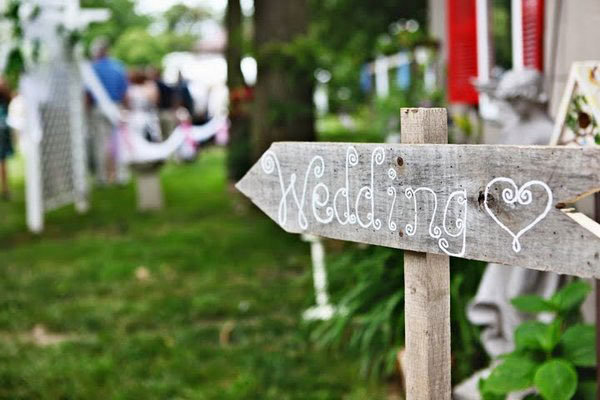 diy wooden sign for wedding