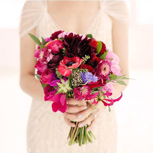 10 of our favorite fall wedding ideas bridalguide for Simple fall bridesmaid bouquets