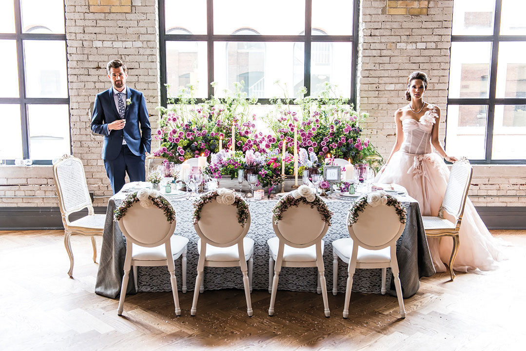 glamorous wedding decor