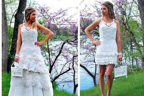 Unbelievable Wedding Dresses Made Of Toilet Paper