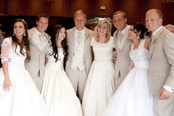 four sibling weddings in utah on same day