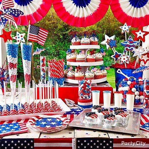 Fourth of july inspired wedding ideas bridalguide for Fourth of july party dessert ideas