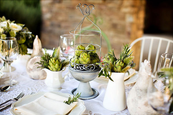 The unexpected d cor element you should be using bridalguide for Artichoke decoration