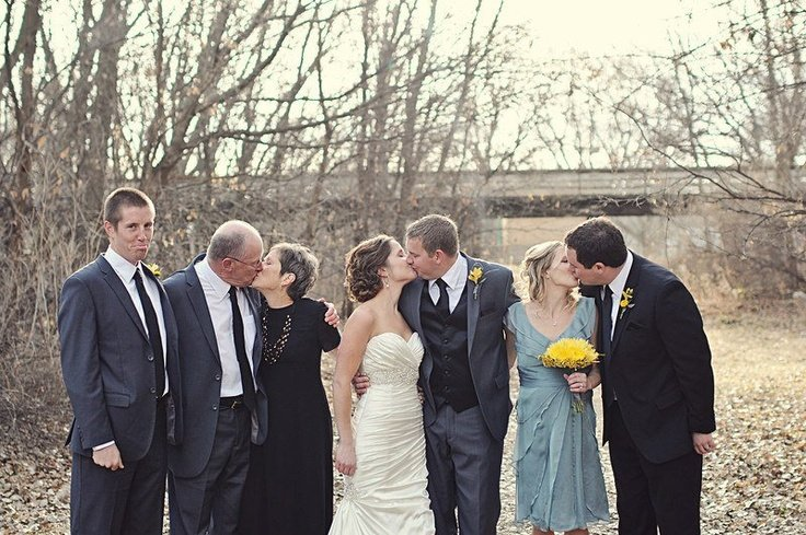 guy left out of wedding kiss photo