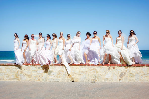 group trash the dress