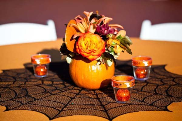 halloween wedding decor pumpkin centerpieces - Halloween Wedding Centerpieces