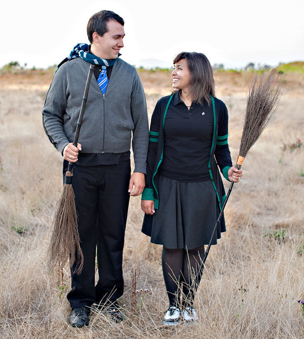 harry potter theme engagement photos