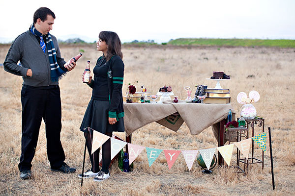 harry potter engagement photos honeydukes