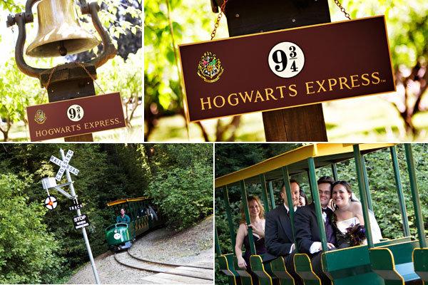 harry potter wedding hogwarts express