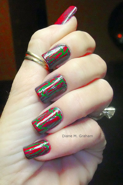 holiday crackle nail polish