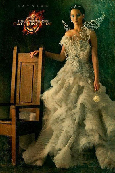katniss everdeen wedding dress hunger games