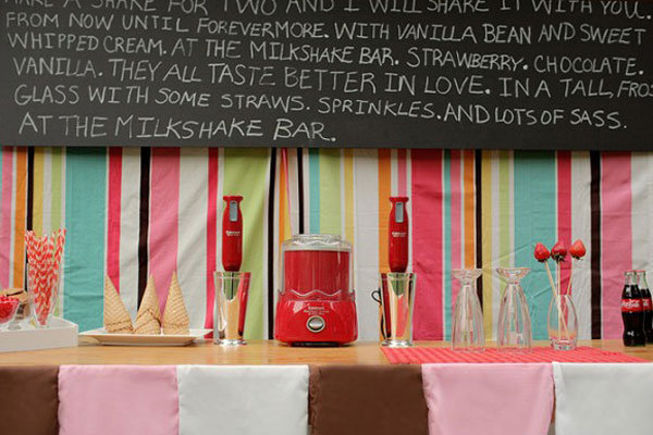 retro milkshake bar