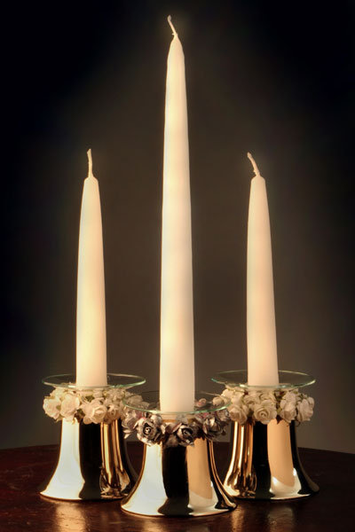 wedding bells candle holders