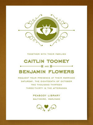 Irish Wedding Invitations is an amazing ideas you had to choose for invitation design