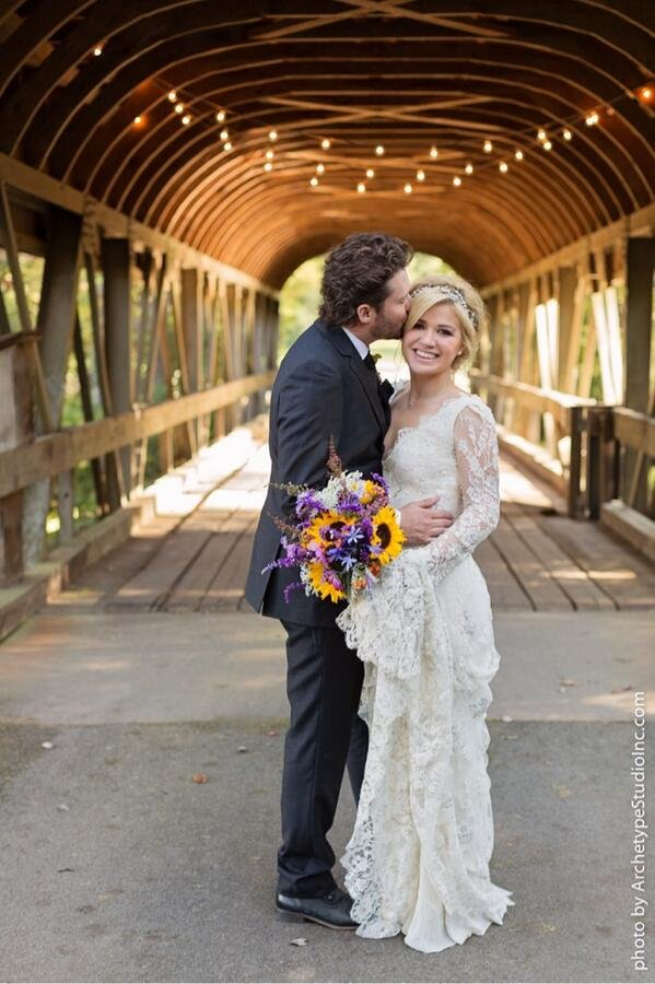 kelly clarkson brandon blackstock wedding