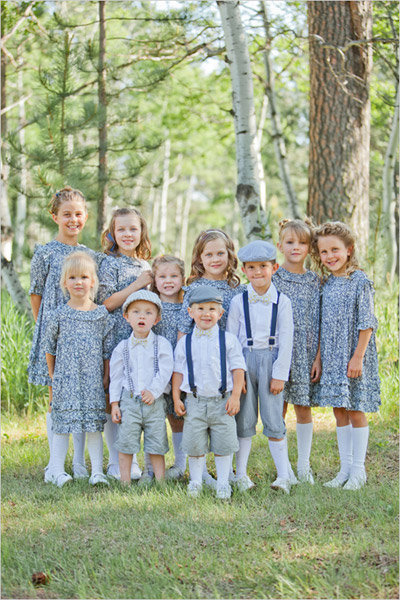 kids wearing cute vintage outfits
