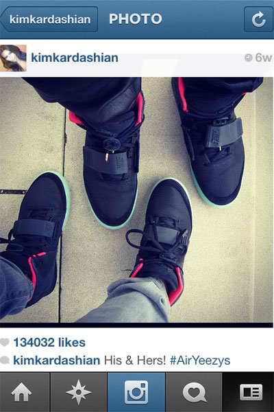 kim and kanye matching sneakers